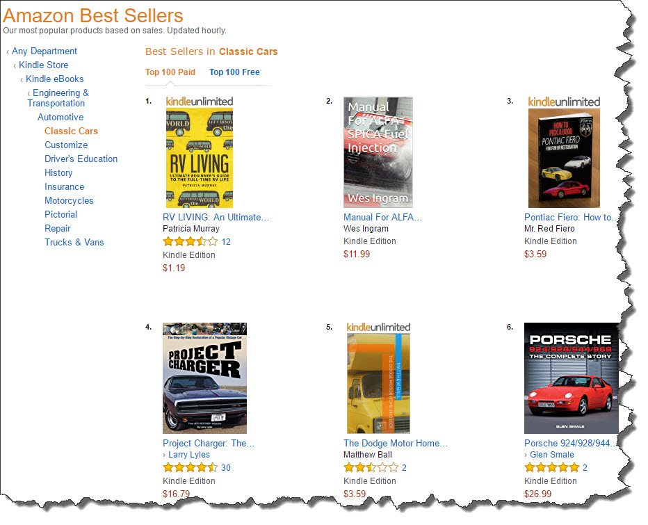 Amazon 100 best sellers